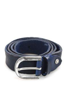 Sergio Gavazzeni - Cinture - Accessori - Cintura in pelle con  fibbia metallica, altezza 3 cm.Vite logata removibile per regolare lunghezza. - INCHIOSTO - € 59.00
