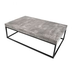 The Tema Furniture Petra Coffee Table will lend a modern look to your living room with its rectangular design and dark-colored base in an openwork. Concrete Coffee Table, Coffee Table Rectangle, Cool Coffee Tables, Coffee Table With Storage, Modern Coffee Tables, Cofee Tables, Steel Coffee Table, Petra, Contemporary Coffee Table