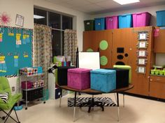 Guided Reading Area... love the organization!
