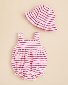 Kissy Kissy Infant Girls' Terry Hat & Bubble Set - Sizes 0/3-6/9 Months | Bloomingdale's