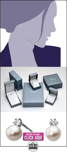 Dew - Aretes de plata 925, perlas y circonio cúbico  ✿ Joyas para mujer - Las mejores ofertas ✿ ▬► Ver oferta: https://comprar.io/goto/B01EFLIR4A