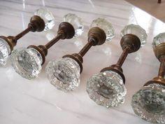Vintage glass doorknobs