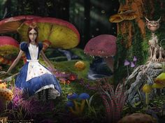 I have this poster hanging on my wall. It's always been one of my favorite art pieces from American McGee's Alice