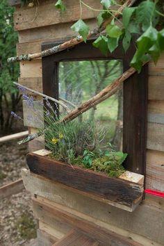 DIY #Mirror - How to Make Outdoor Pallet Bathroom? | 101 Pallet Ideas