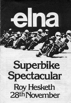 Last Ever Roy Hesketh Circuit Race Meeting Programme November 1981 Race Tracks, Road Racing, Programming, Circuit, South Africa, November, African, Classic, Posters