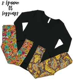 Small Black / Noir Lynnae and Paisley OS Leggings   visit asbellroe.com to find this beautiful outfit among many others! Perfect for any season and weather.