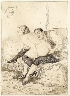 Vintage French Erotic Art Etchings - Erotic Rarities