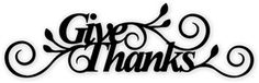 Silhouette Online Store: give thanks phrase