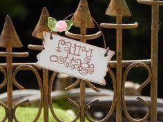 Fairy Garden sign - Fairy Cottage