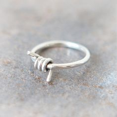 Wrapped Wire Ring in sterling silver by laonato on Etsy, $34.00
