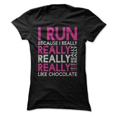 I Run Because I Really Like Chocolate T Shirts, Hoodies, Sweatshirts. CHECK PRICE ==►…