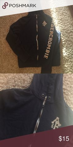 Navy blue Abercrombie and Fitch Hoodie Classic Navy blue! Closet must have Abercrombie & Fitch Tops Sweatshirts & Hoodies