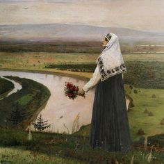 Fan account of Mikhail Nesterov, a Russian and Soviet painter and one of the first exponents of Symbolist art in Russia. Russian Painting, Russian Art, Basic Painting, Russian Style, Odilon Redon, Art Database, Portraits, National Museum, Art History