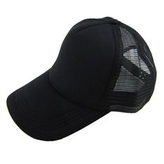 Unisex Plain baseball cap Casual Hat Solid Baseball Cap Trucker Mesh Blank  Visor Hat Adjustable One 98a311d396ac
