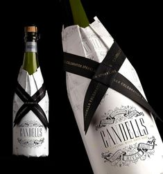 Candells bottle sleeves for Safeway, featured on the Graphic Exchange blog by Mr. Cup. Packaging design by Stranger & Stranger