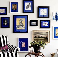 quadros com paspatur oder passepartout azul - Custom Frames Online, Matt And Blue, Sweet Home, Bright Homes, Interior Decorating, Interior Design, Decorating Ideas, Design Art, Design Ideas