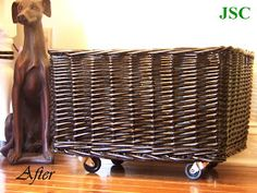 The JS Chronicles: Pottery Barn Knock-off Basket with Wheels!
