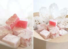 How to make Turkish Delight - Yuppiechef Magazine Jello Recipes, Candy Recipes, Sweet Recipes, Holiday Recipes, Dessert Recipes, Dinner Recipes, Homemade Rose Water, Uses For Rose Water, Yummy Things To Bake