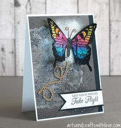 Card for May Mixed Media Card Challenge: Let Your Dreams Take Flight