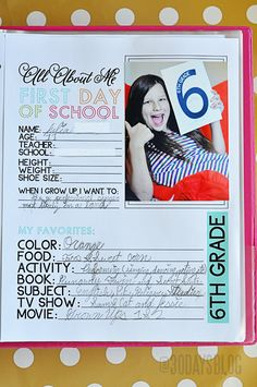 School Binder with Printables All About Me Printable for the first day of School (pre-k thru grade) cute signs to hold and binder printables Back To School Hacks, 1st Day Of School, School Daze, School Stuff, School Ideas, All About Me Printable, Starting School, Cute Signs, School Signs