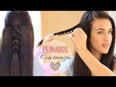Peinados con trenzas fáciles - YouTube