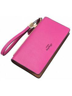Women's Wallet New Clutch Bag Long Zipper Soft Leather Bow Folder Phone