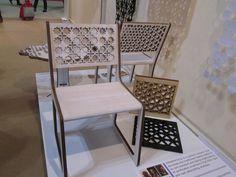Prototipo de silla presentado por Egypt Design Hub en Salón Satélite 2013. (Foto: Elizabeth Palacios/Ointeriores) http://www.obrasweb.mx/interiorismo