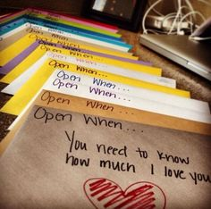Open When Letter | Valentines Day Ideas for Him, see more at: http://diyready.com/valentines-day-ideas-for-him/