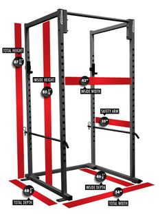 Power Rack Measurements And Dimensions Diy Home Gym, Best Home Gym, Diy Gym Equipment, No Equipment Workout, Fitness Equipment, Training Equipment, Basement Gym, Garage Gym, Diy Power Rack