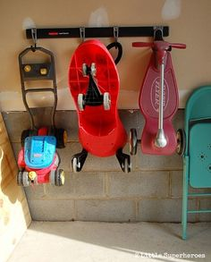 Easy storage solution for garage. #FastTrack #pmedia #ad