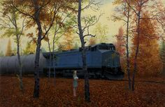 October , oil on canvas, 22.75 x 35 in, 2014, Aron Wiesenfeld