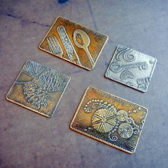 DIY copper etching tutorial  It is easy to etch your own designs into metal for jewelry. This tutorial will teach you how!