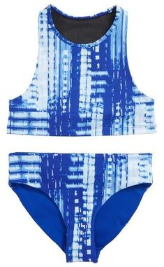 4629075772 Gossip Girl Jeans Addiction Two-Piece Rashguard Swimsuit (Big Girls ...
