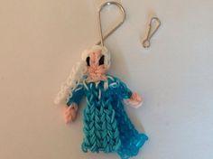 Disney Frozen Elsa  Rainbow Loom Charm Keychain by EmzDesignz.  Don't you love this?!