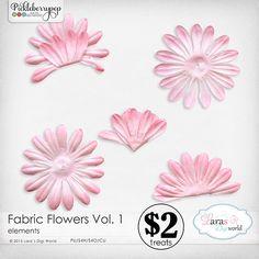 Fabric Flowers Vol. 1 by Lara's Digi World