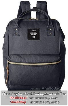 173a962b2ec1 Japan Anello Backpack Unisex MINI SMALL NAVY Rucksack Waterproof Canvas  Campus  fashion  clothing