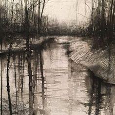 Landscape Sketch, Landscape Drawings, Cool Landscapes, Watercolor Landscape, Watercolor And Ink, Abstract Landscape, Landscape Paintings, Watercolor Paintings, Charcoal Art