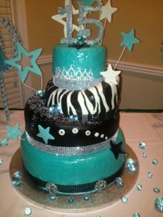 "Quincenera Cake by  ""Sweet Intentions Kustom Kakes"""