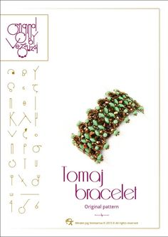 *P Bracelet  tutorial / pattern Tomaj with superduo beads ..PDF instruction for personal use only. $13.00, via Etsy.