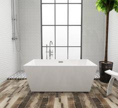 A DIY Vacation With The Aqua Eden Freestanding Acrylic Bathtub   Kingston  Brass Acrylic Tub,