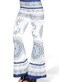 Tangled Up in Blue Bell Bottoms - LIMITED (AU $99AUD / US $70USD) by Black Milk Clothing