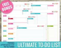 Ultimate To-Do List Planner w/ BONUS  Daily by TheNiftyStudio