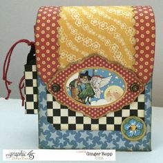 This Mother Goose backpack and mini is just glorious by the talented and wonderful Ginger! Love it! #graphic45