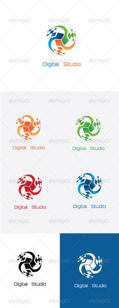 Digital Studio Logo Template.