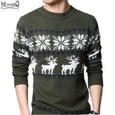 2017 new Men stripe print pullover British retro mens  christmas Sweater Brand Casual slim fit jumper O Neck sweater