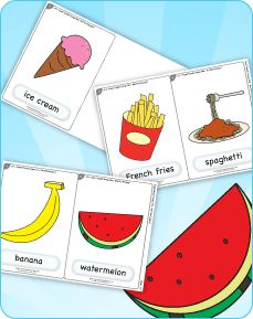 """Are You Hungry?"" from Super Simple Songs 1 is a great way to discuss different types of food. Get free flashcards to go with the song."