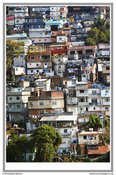 Favelas - the Vidigal favela next to the Leblon district of Rio de Janeiro
