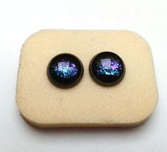 Hand painted Milky Way Earrings,Galaxy earrings; Antique earrings, Bronze earrings, Geekery earrings, Northern lights, Aurora borealis