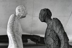 The Human Figure Takes Shape in New Steel, Graphite, and Gypsum Sculptures by Emil Alzamora Figurative Sculpture, Figures, Visual, Colossal Art, Greek Statue, Human Figure, Human Sculpture, Human, Creature Design