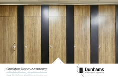 The 2019 Arpa Athlon Collection from Performance Panels Ltd. Arpa Athlon Zebrano Naturale - Ormiston Denes Academy by Dunhams Washroom Systems.